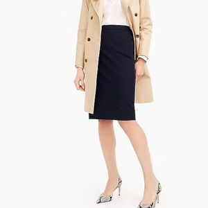 J. Crew Pencil skirt in two-way stretch wool